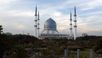 Shah Alam's Blue Mosque standing tall.