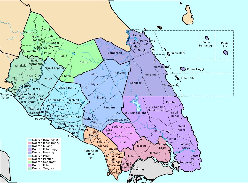 Peta Mukim Johor Mukim Map
