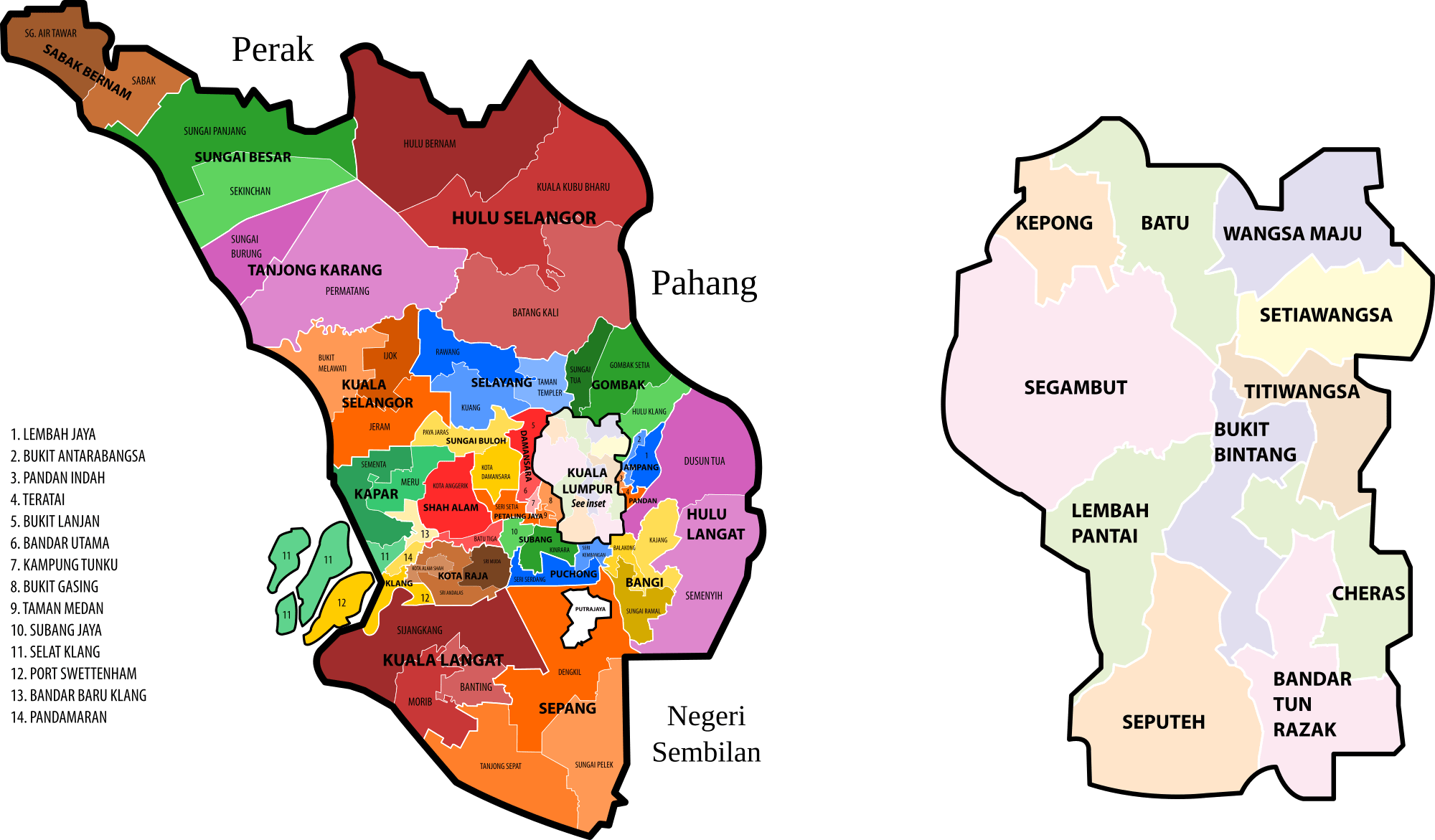 Area map - Selangor & Kuala Lumpur