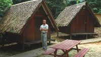 A-frame huts are a form of accommodation at the Forest Research Institute of Malaysia.