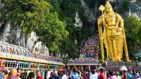 Batu Caves during Thaipusam.
