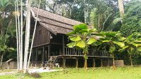 Malay traditional house available for events at the Forest Research Institute Malaysia.