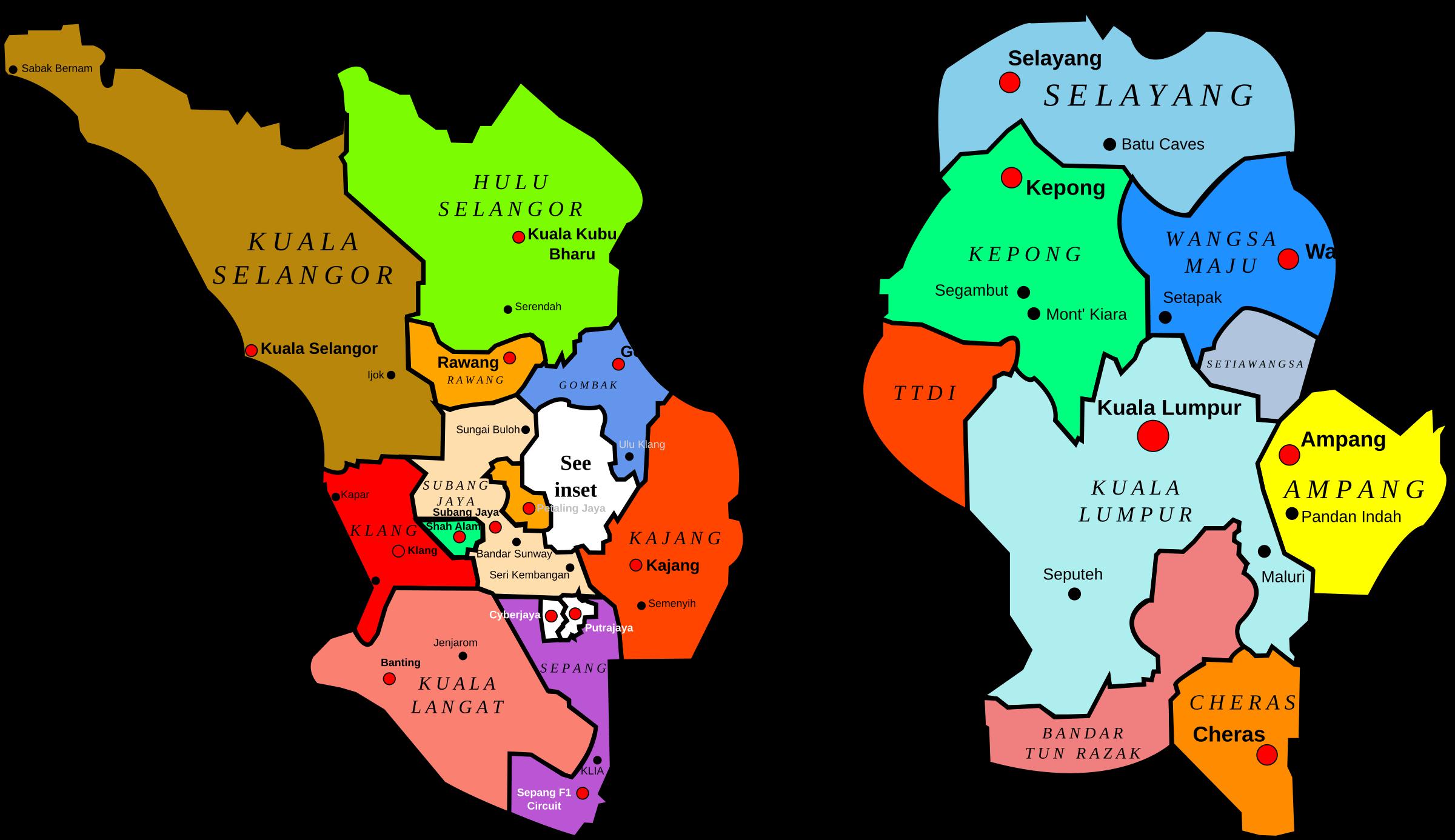 Area Maps Of Selangor And Kuala Lumpur Visit Selangor